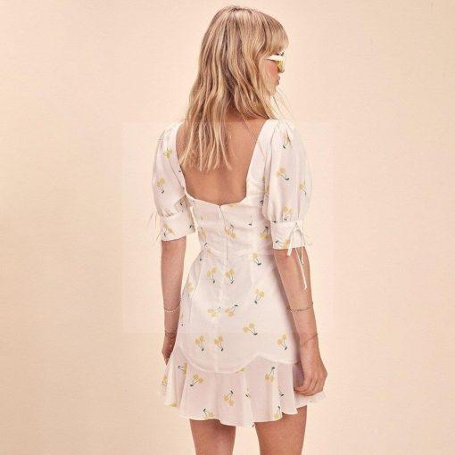 Weißes böhmisches Kleid für Frauen